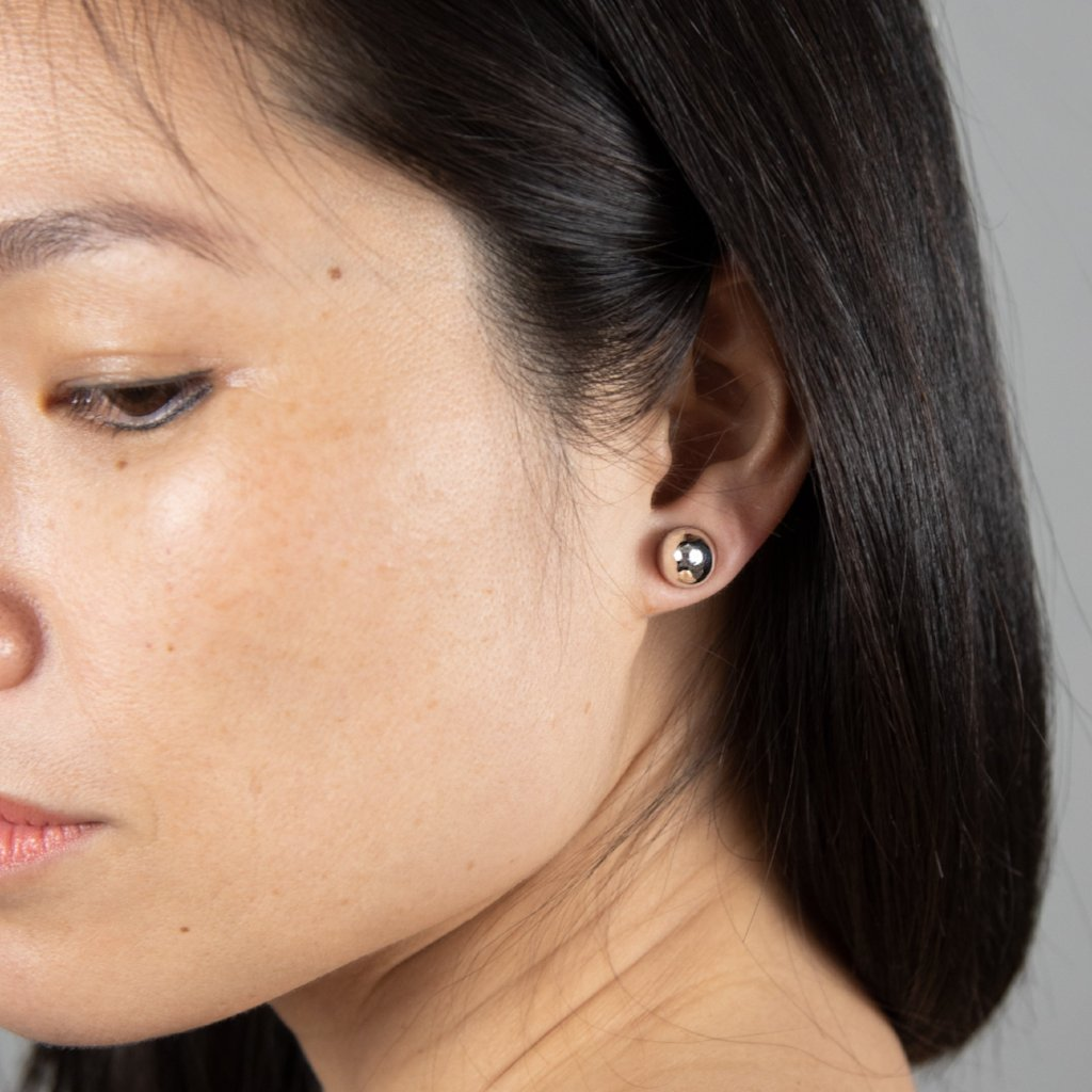COCOON CONIC Earrings: sterling silver