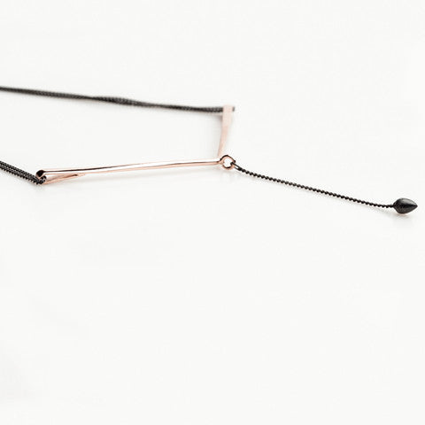 CANOPIAL MENOR necklace: black rhodium silver, rose gold