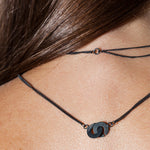 CANOPIAL MENOR necklace: black rhodium silver, silver