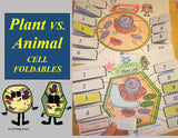 Plant & Animal Cell Foldables