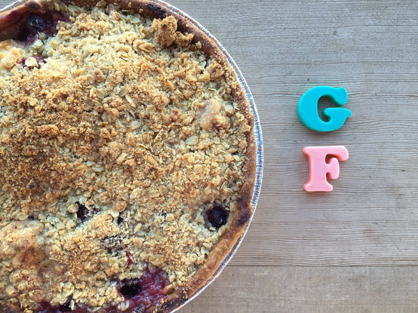 Gluten Free Pear Blueberry Pie
