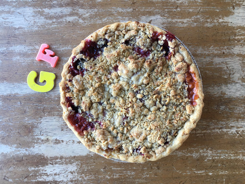 Gluten Free Pear Raspberry Pie