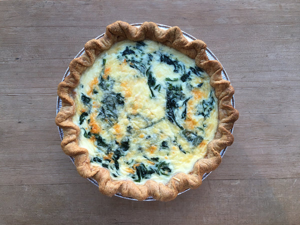 Bacon, Spinach & Cheddar Quiche