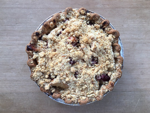 Vegan Pear Raspberry Pie