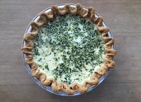 Broccoli & Cheddar Quiche