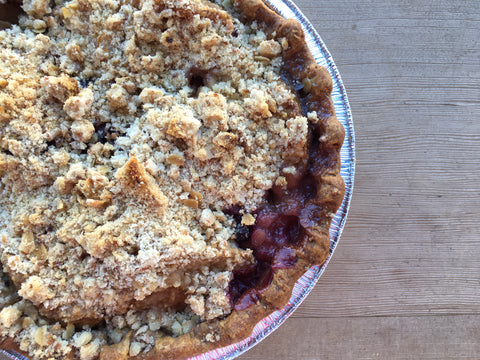 Vegan Pear Blueberry Pie