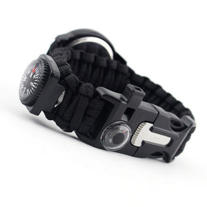 Multifunctional Paracord Survival Watch with 16 functions