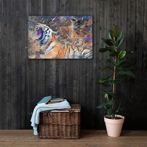 Blue Tiger on Canvas