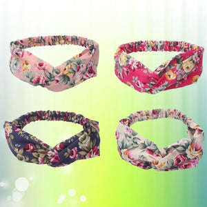 4 Pack Women Cross Headbands