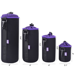 Camera Lens Protection Bags (4 piece kit)