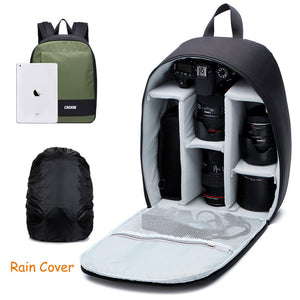 Caden DSLR Backpack Camera Case - Waterproof Cover included