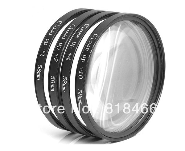 Macro Close Up Lenses Kit +1+2+4+10. 58mm