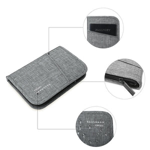 BAGSMART RFID Multifunction Travel Passport Holder