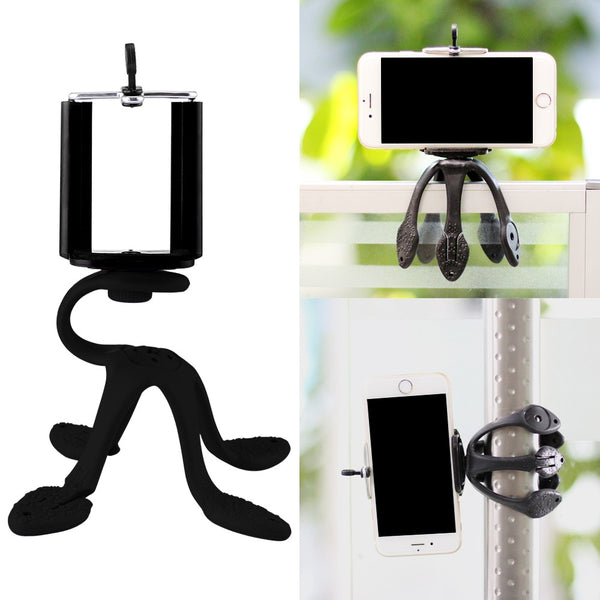 Mobile portable black mini tripod and mount