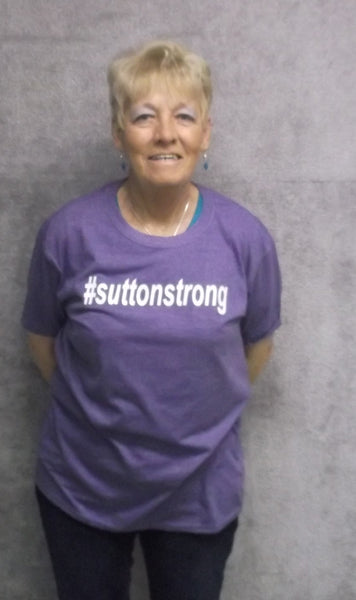 #suttonstrong Short Sleeve Tee in Heather Purple