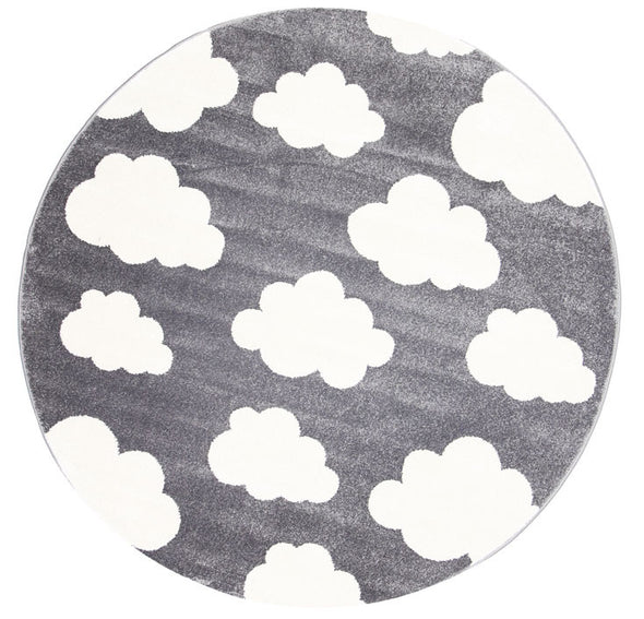 Kids Cloud Dark Grey White