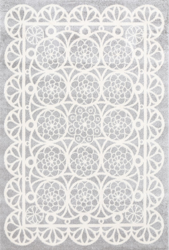 Kids Doily Grey White