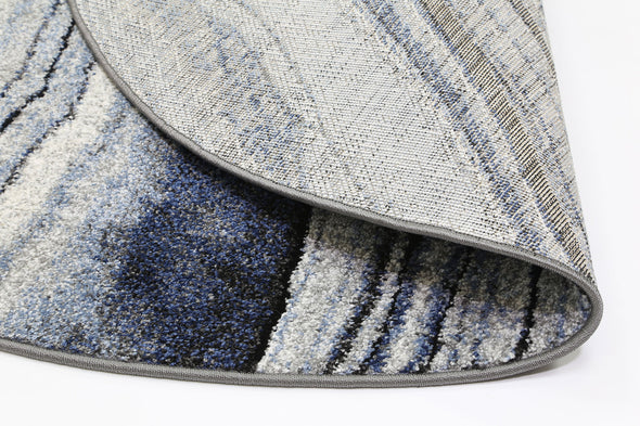 Vision Drift Blue Grey Round Rug