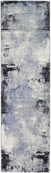 Vision Raw Blue Grey Runner Rug