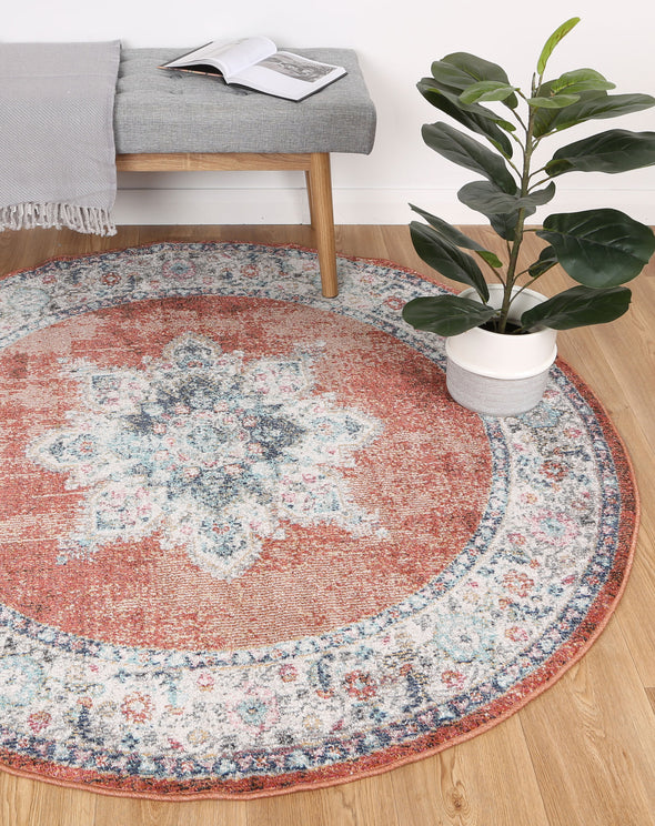 Brentwood Transitional Rust Rug