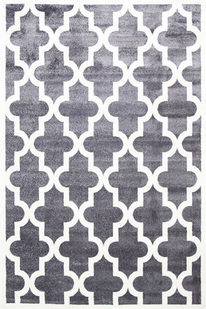 Kids Lattice Pattern Grey White