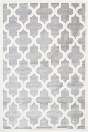 Kids Lattice Pattern Light Grey White