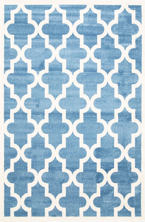 Kids Lattice Pattern Blue White