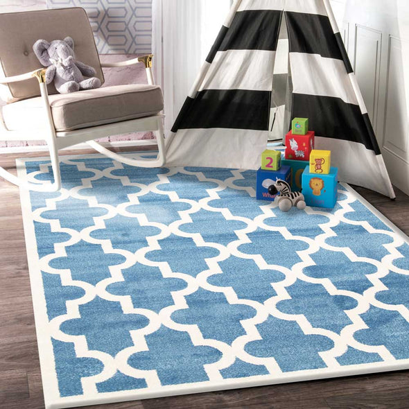 Lattice Pattern Blue White