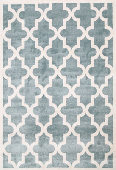 Kids Lattice Pattern Auqa White