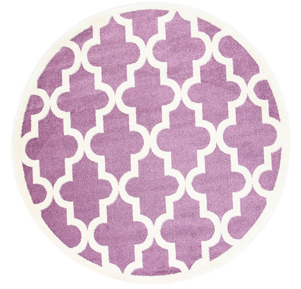 Kids Lattice Pattern Violet Pink White