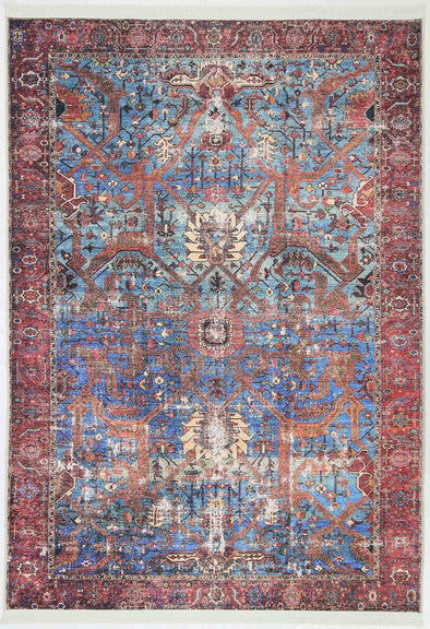 Vintage  Ashbury Blue Terracotta Rug