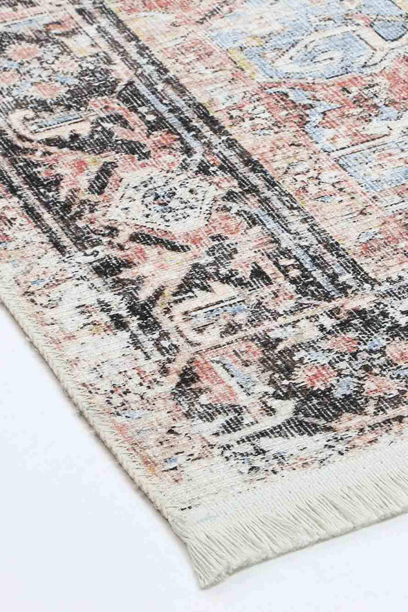 Distressed Vintage Annabel Terracotta Sky Rug