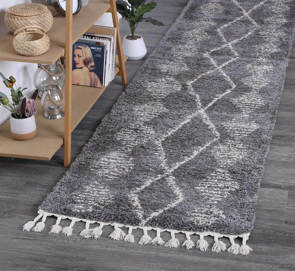 Kasbah Zara Tribal Grey Cream Rug