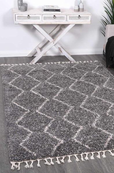 Kasbah Levi Fleck Tribal Grey Rug