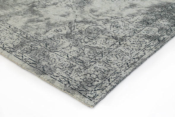 Bohemian Border Grey Distressed Rug