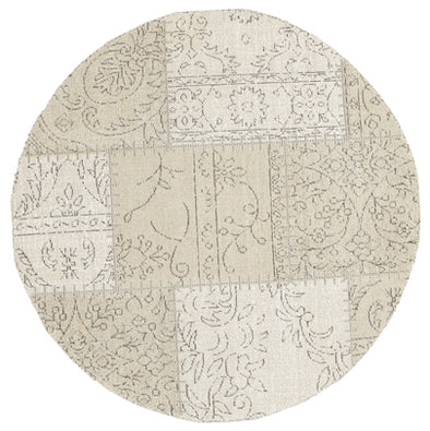 Bohemian Patchwork Beige Distressed Rug