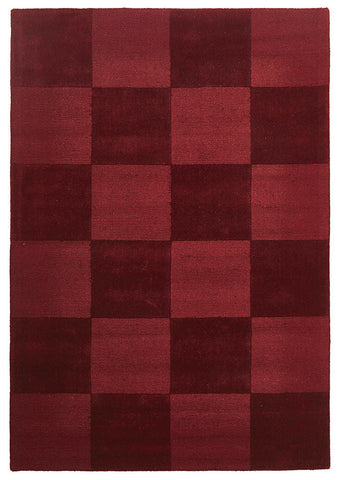 Wool Hand Loomed Rug - Box Red