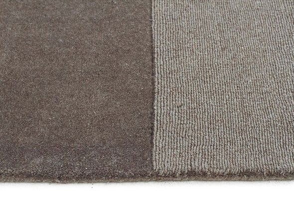 Wool Hand Loomed Rug - Box Smoke