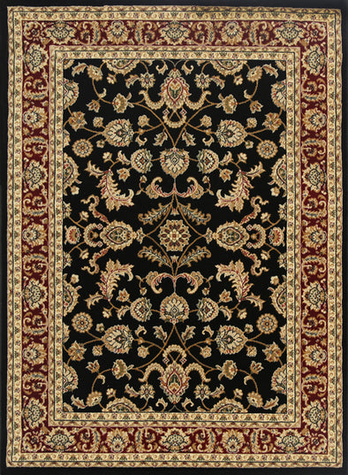 Julian Black Red Bordered Oriental Rug