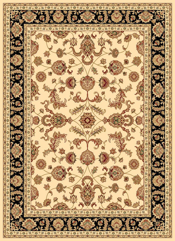 Julian Cream Black Bordered Oriental Rug