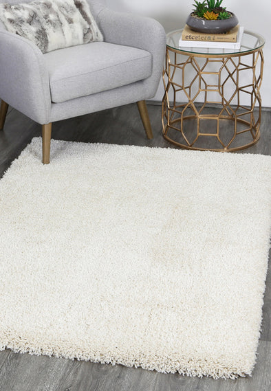 Arctic Plush Cream Shaggy Rug