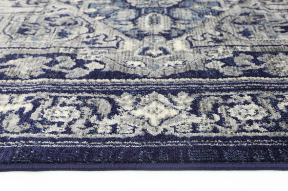 Old World Tranistional Navy Rug