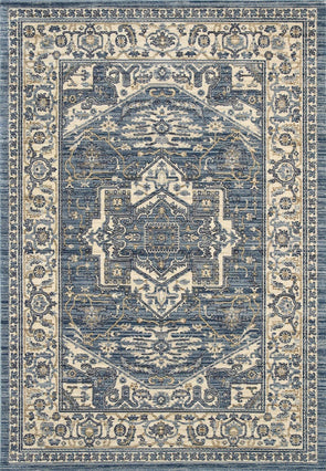 ATLANTA Classic Traditional Blue Rug