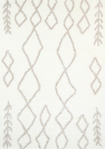 Moroccan Tribal Rug Cream Beige