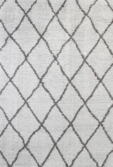 Moroccan Diamond Rug  Silver Grey