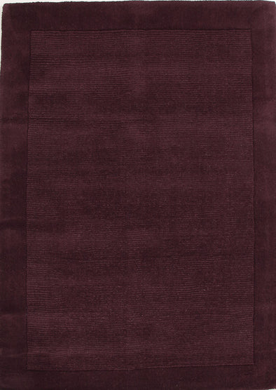 Cut and Loop Pile Rug Purple