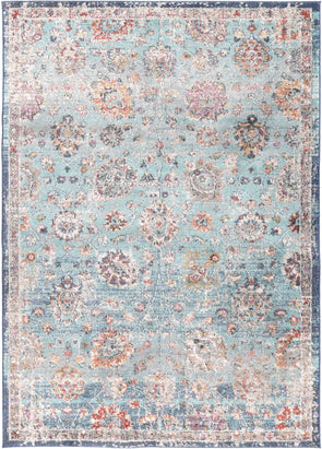 Ezra Multi Blue Traditional Rug