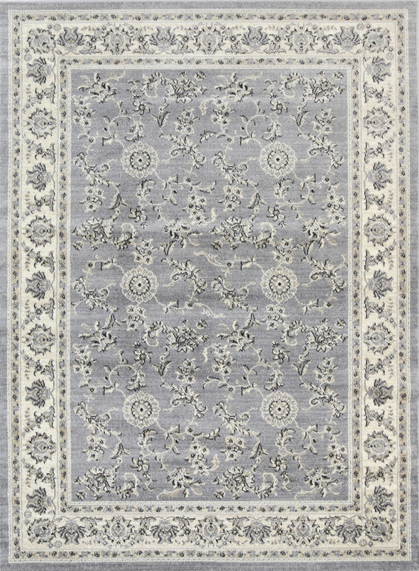 Old World Grey Cream Boarder Rug