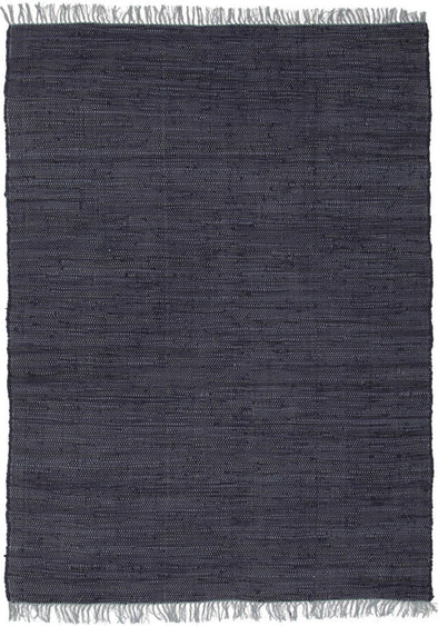 Mina Stunning Cotton Rug Navy