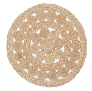 Natural Daisy Jute Rug